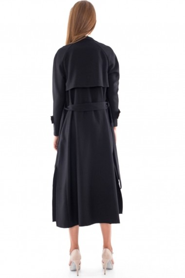 Trench Roh Boutique elegant - JR241 negru