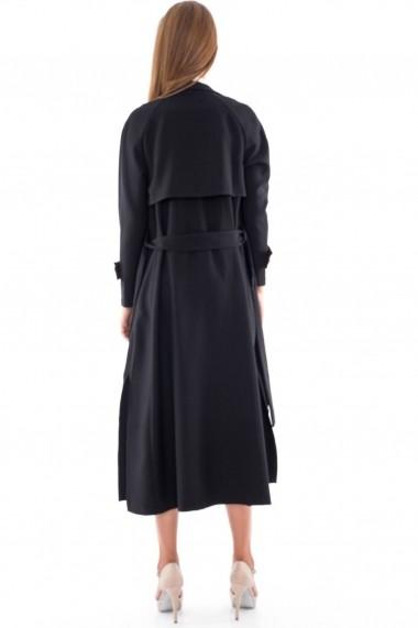 Trench Roh Boutique elegant - JR241 negru