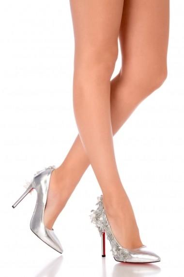 Pantofi pentru femei Stiletto Harmony Silver by Eugen Olteanu