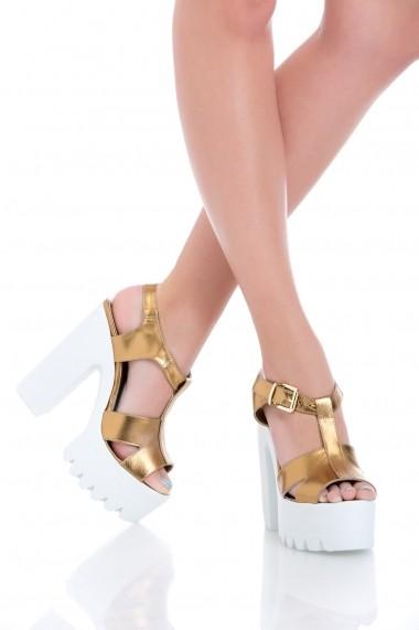Sandale pentru femei Sandra Gold Spring Collection by Eugen Olteanu