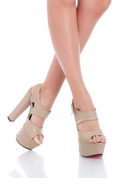 Sandale pentru femei Seraphina Beige Spring Collection by Eugen Olteanu
