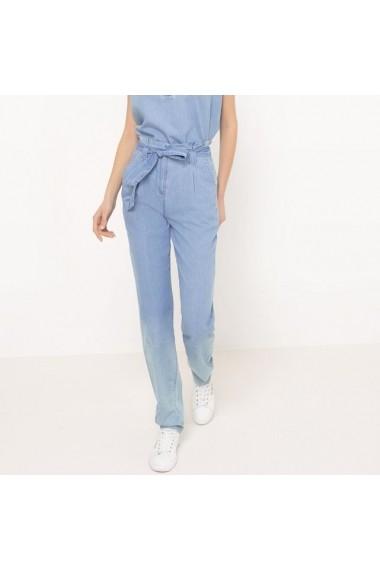Pantaloni R essentiel 6086586 Albastru