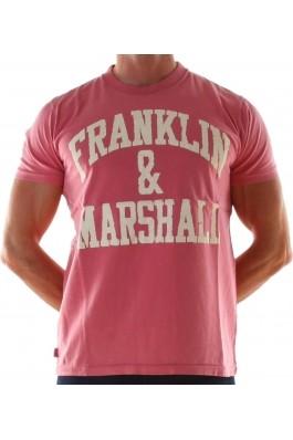Tricou Franklin & Marshall t_shirt_pink
