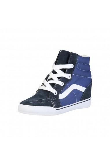 Pantofi sport Vans SK8-HI-WEDGE_VUDHNWD albastru