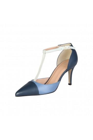 Pantofi cu toc V 1969 ROXANE BLU JEANS bleumarin
