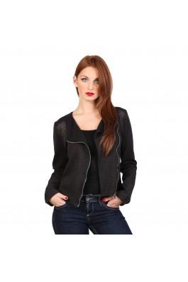 Jacheta Fontana 2.0 AGATA neagra, din piele ecologica