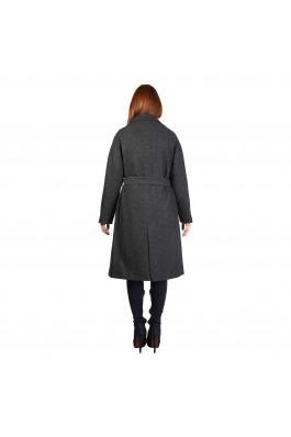Palton Fontana 2.0 gri inchis din lana - els