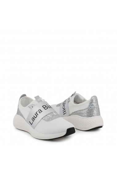 Pantofi sport Laura Biagiotti 5541_MESH_WHITE-SILVER