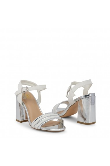 Sandale cu toc Laura Biagiotti 5382_NABUK_WHITE