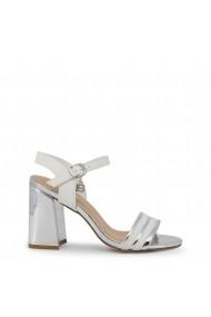 Sandale cu toc Laura Biagiotti 5382_NABUK_WHITE Alb