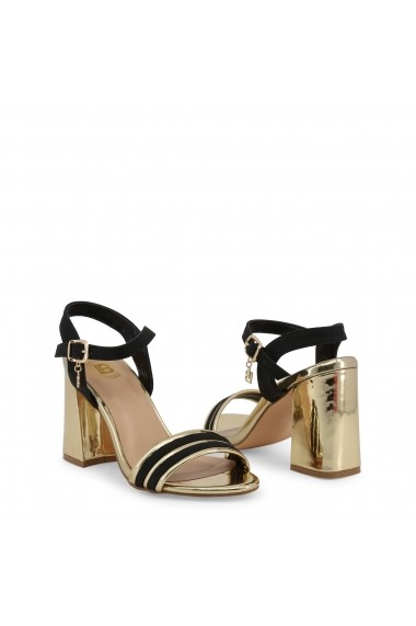 Sandale cu toc Laura Biagiotti 5382_NABUK_BLACK Negru