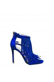 Sandale cu toc Steve Madden FRINGLY-B_BLUE