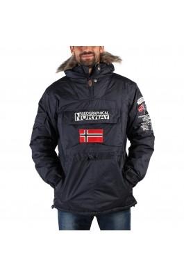 Geaca Geographical Norway Building navy, cu gluga si buzunare - els