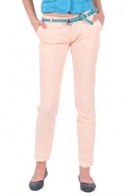 Pantaloni de in culoarea caisei Be You, preturi, ieftine