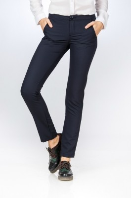 Pantaloni dama clasici bleumarin Be You