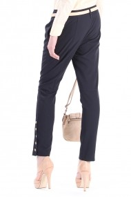 Pantaloni Be You, bleumarin cu pense