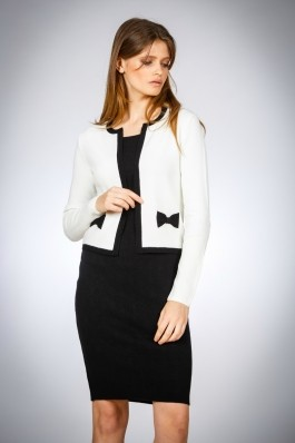 Jacheta alb cu negru Be You