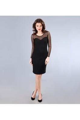 Rochie de seara YOKKO din jerse elastic cu picouri de efect, preturi, ieftine
