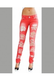 Pantaloni skinny Blugi SORANA RED Escape Star Jeans