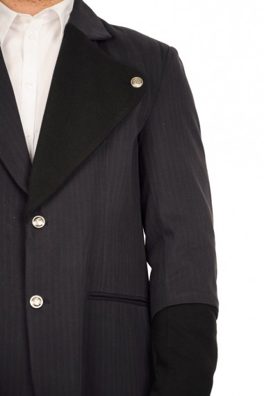 Sacou RVL Fashion bleumarin cu rever din tricot