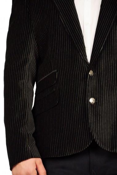 Sacou RVL Fashion Antonio negru cu dungi