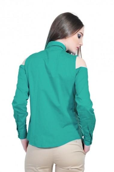 Camasa verde de dama cu volane, RVL rvl_D-2513-veD-e verde