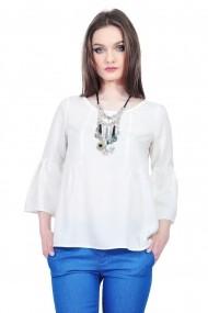 Bluza dama alba din bumbac, RVL