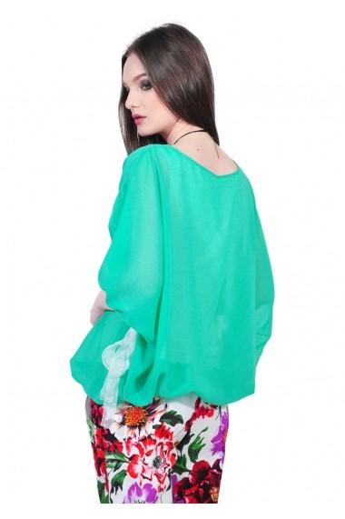 Bluza RVL Fashion verde eleganta de dama