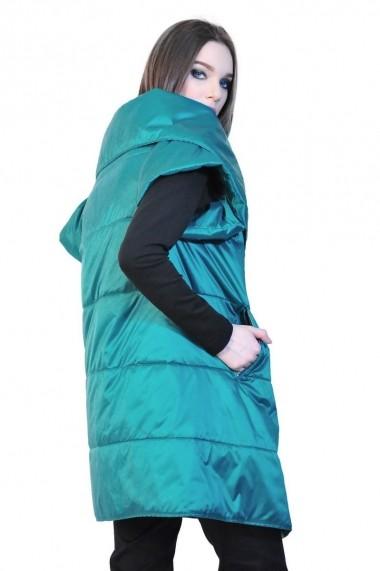 Vesta RVL Fashion turcoaz de dama cu maneca scurta rvl_D-2534-tucoaz turcoaz