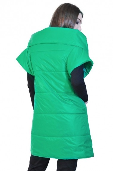 Vesta RVL Fashion verde de dama cu maneca scurta rvl_D-2534-veD-e verde