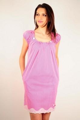 Rochie RVL Fashion Anabelle alb-roz, preturi, ieftine