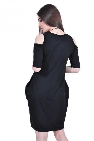 Rochie de zi neagra de dama, RVL rvl D-2518-negu negru