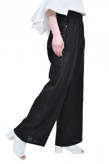 Pantaloni largi RVL rvl D-2516A-negu negru