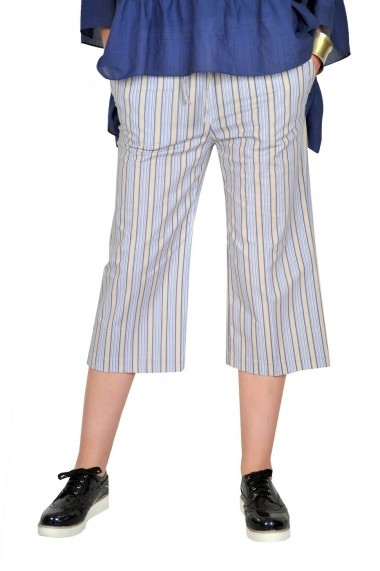 Pantaloni RVL Fashion dama 3/4 Feel the Pride - bleu/bej