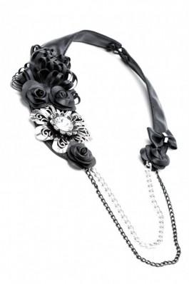 RS31 Colier cu flori Wiched Girl - RS-Negru, preturi, ieftine