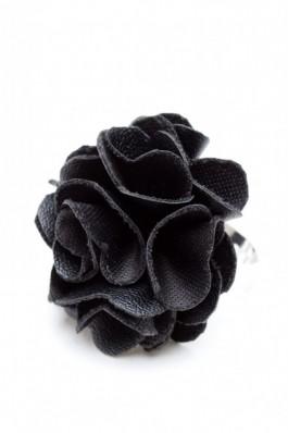 RS26 Inel reglabil cu mini-bulgaras din piele neagra - RS-Negru, preturi, ieftine