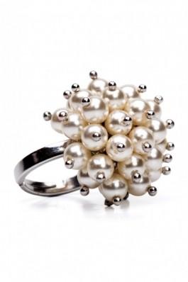 TK22 - Inel cu perle - ivoir, preturi, ieftine