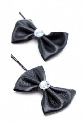 RS20-N Set de fundite negre din piele cu strasuri - negru, preturi, ieftine