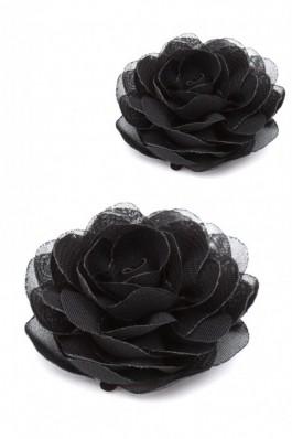 Set agrafe cu flori LB017-NEGRU - negru, preturi, ieftine