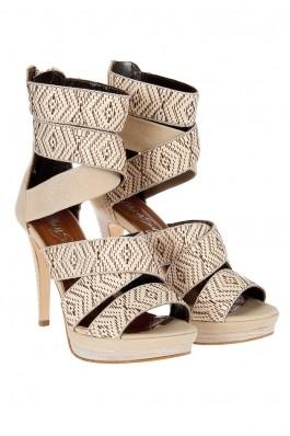 FashionUp! - Sandale Miss Sixty bej cu toc - FEMEI, Incaltaminte, Sandale