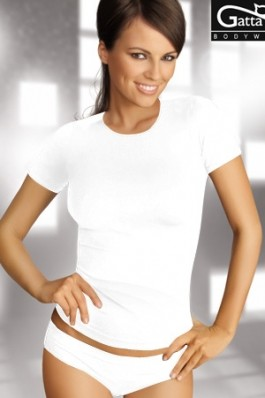 Tricou Gatta alb, simplu, preturi, ieftine