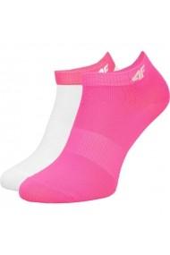 Sosete pentru femei 4f  2pak W H4L17-SOD004 różowe, białe