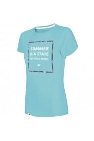 Tricou pentru femei 4f W H4L19-TSD009 34S jasny niebieski