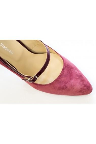 Pantofi cu toc eleganti din piele intoarsa Thea Visconti P-421/18/103