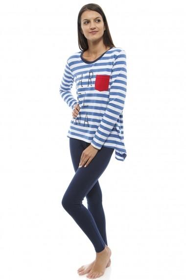 Compleu pentru femei marca SOFIAMAN cu bluza asimetrica