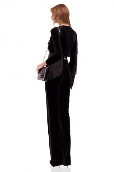 Body NISSA elegant cu franjuri Negru