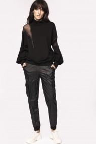 Pantaloni largi NISSA P11129 Negru