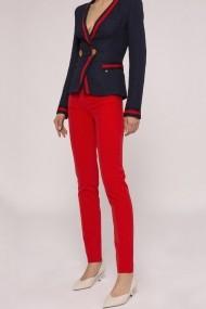 Pantaloni drepti NISSA slim office Rosu