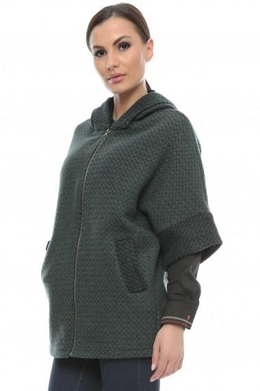 Jacheta pentru femei marca Crisstalus din stofa, cu gluga