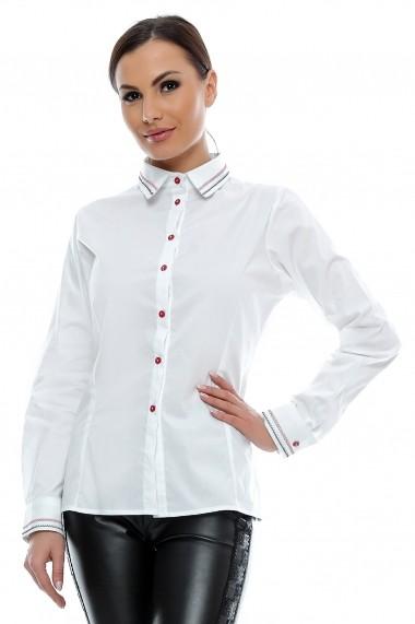 Camasa pentru femei marca Crisstalus alba cambrata